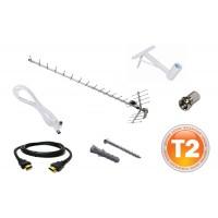 Комплект для самостоятельной установки цифрового эфирного телевидения T2