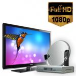Комплект спутникового телевидения и оборудования для самостоятельной установки Стандарт HD на 1 ТВ